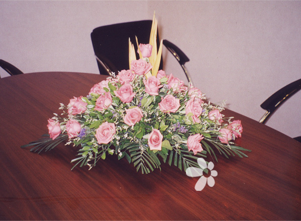 鲜花网站-会议桌花2
