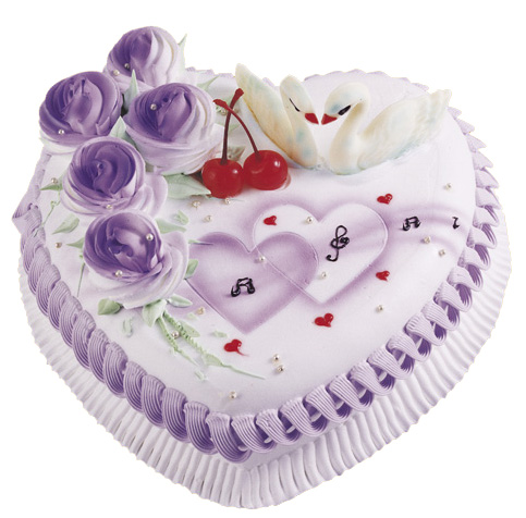 方形蛋糕-情人心型蛋糕