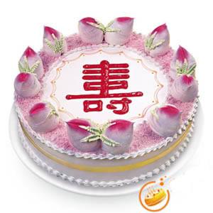 心形蛋糕-祝寿蛋糕