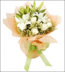 订购鲜花-白色恋人