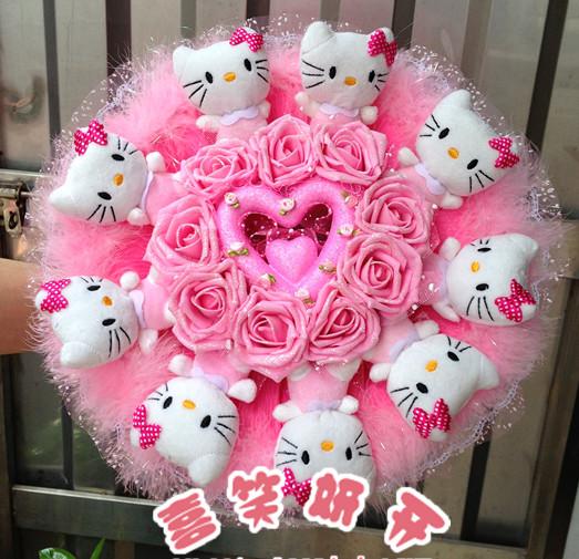 鲜花网-KT猫喜欢花