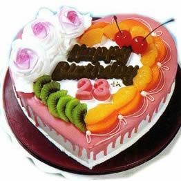 开业蛋糕-心形水果蛋糕