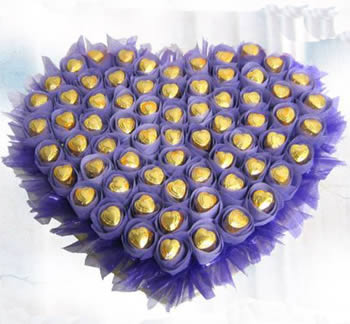 鲜花快递网-心型巧克力