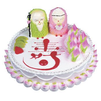 庆典蛋糕-福寿双全