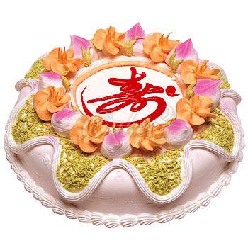 翻糖蛋糕-健康长寿