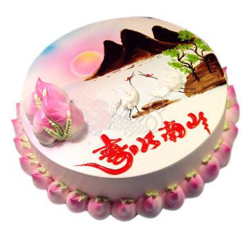人民币蛋糕-寿比南山