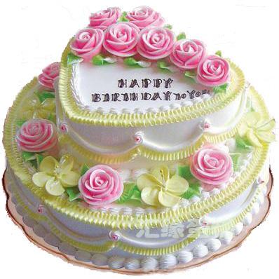 多层蛋糕-2层鲜奶蛋糕