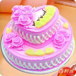 蛋糕鲜花-2层鲜奶蛋糕