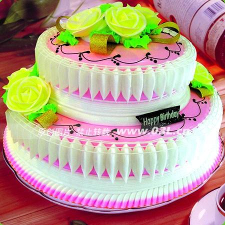 庆典蛋糕-2层鲜奶蛋糕