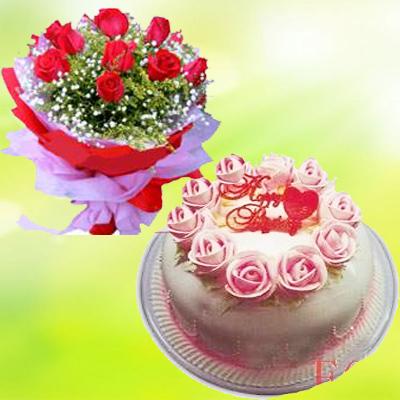 �W上�花-�r花蛋糕套餐3