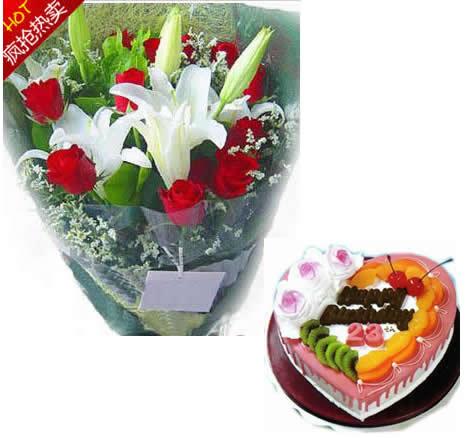 鲜花礼盒-甜蜜的爱