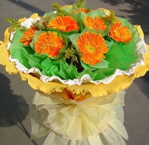 鲜花礼盒-桔色星辰