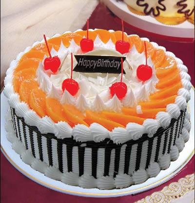 圆形蛋糕-红红火火