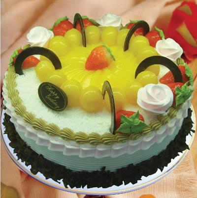 圆形蛋糕-星空灿烂
