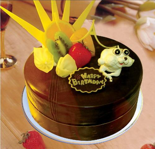 巧克力蛋糕-童趣