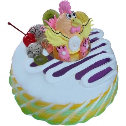 蛋糕鲜花-小鸡淘淘