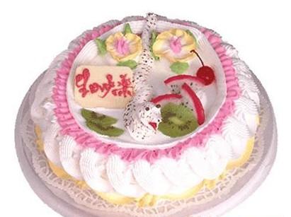 生日鲜花蛋糕-小蛇