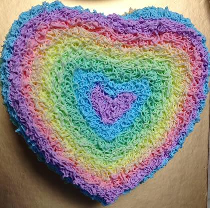 鲜奶蛋糕dangao-爱心彩虹