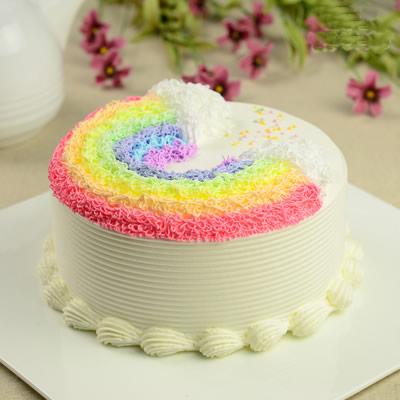 蛋糕鲜花-悬浮彩虹