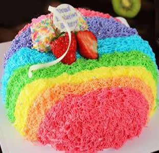 水果蛋糕-水果彩虹