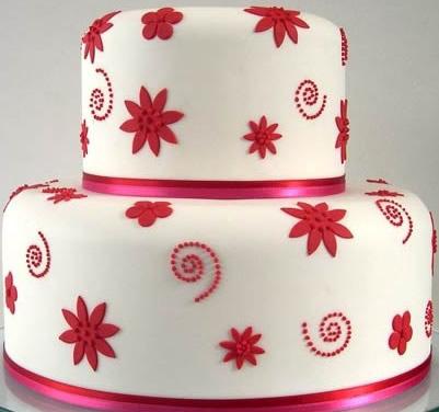 卖蛋糕dangao-翻糖蛋糕 红叶