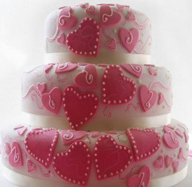 水果蛋糕-翻糖蛋糕 红线