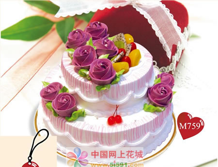 鲜花蛋糕-美丽心情