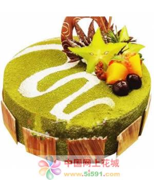 鲜花蛋糕-简单爱念