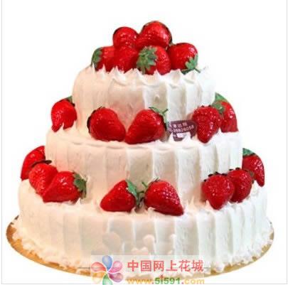 鲜花蛋糕-牵手一生