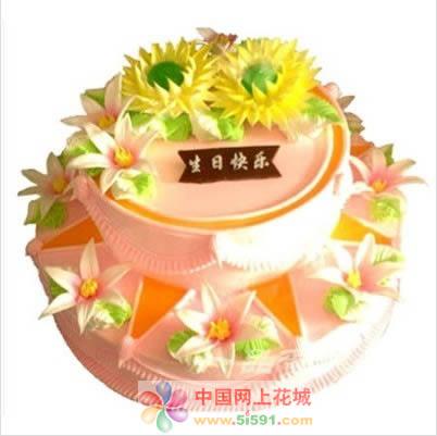 鲜花蛋糕速递网-百合花香