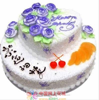 生日鲜花蛋糕-紫色的梦