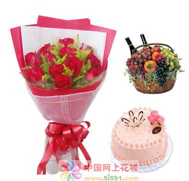 鲜花礼品-吻上你的心