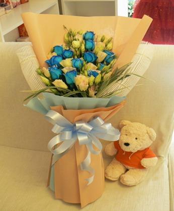 鲜花快递网-蓝玫瑰情话