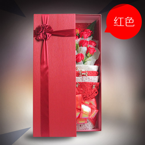 鲜花公司-香皂花礼盒单红色