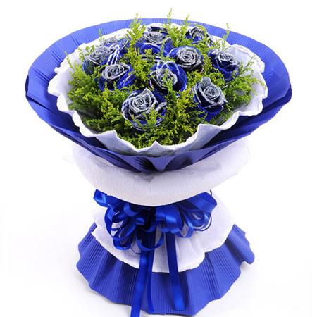 鲜花订购-蓝色之恋