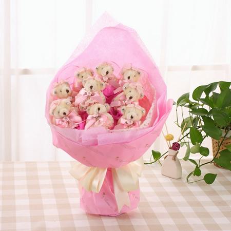 预订bwin娱乐下载-蕾丝熊粉色  粉色小可爱