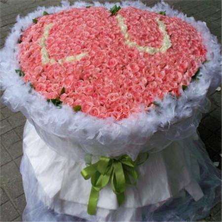 鲜花礼品-粉色情缘
