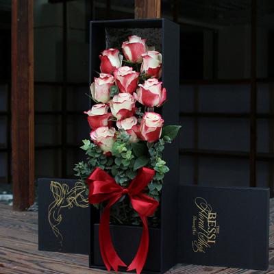 彩色玫瑰-�M口花-花�的甜蜜11支