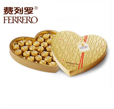 鲜花礼品-费列罗巧克力心形装