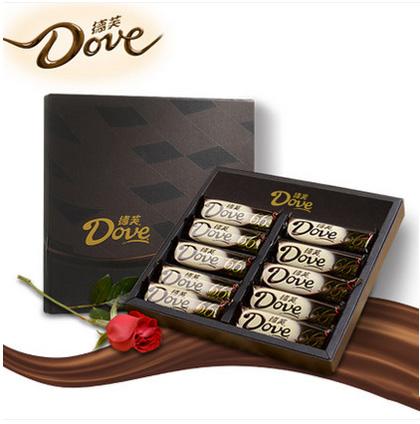 鲜花定购-德芙巧克力礼盒66%醇黑巧克力
