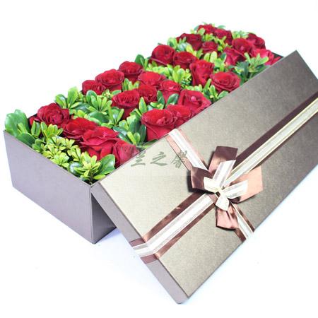 花店-1314玫瑰礼盒-一生一世