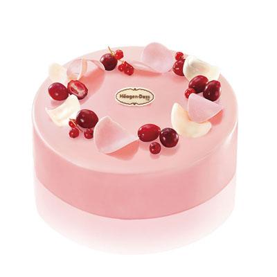 哈根�_斯官�W-哈根�_斯 冰淇淋蛋糕 蔓越莓舞
