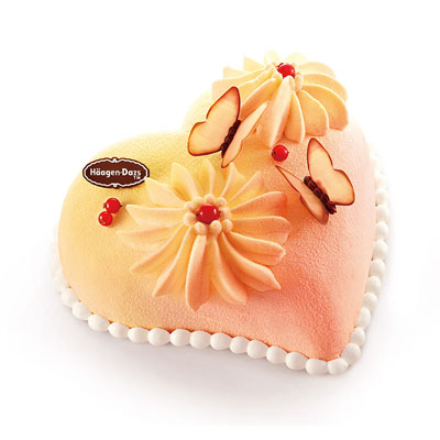 哈根�_斯送蛋糕-哈根�_斯 冰淇淋蛋糕 心花蝶��