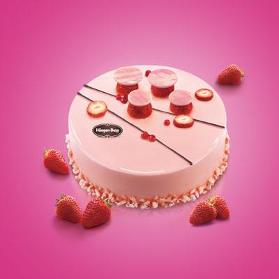 哈根�_斯�蛋糕-哈根�_斯 冰淇淋蛋糕 草莓心情