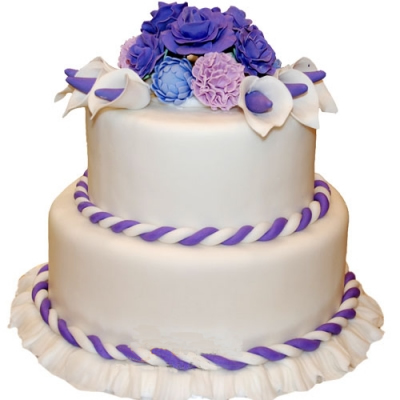 送蛋糕-翻糖蛋糕 温馨你我