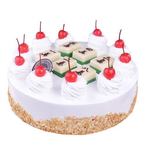 生日鲜花蛋糕-麻将心语