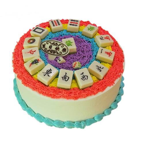 水果蛋糕-麻将蛋糕