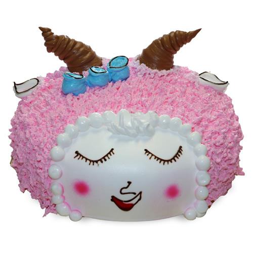 巧克力水果蛋糕-美丽小羊