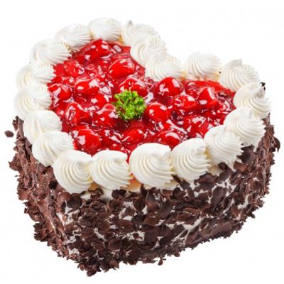 老公生日蛋糕-心型水果蛋糕