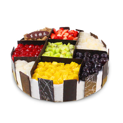 圆形蛋糕-缤纷盛果